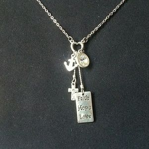 Last Day! Closet closing! Silver charm necklace